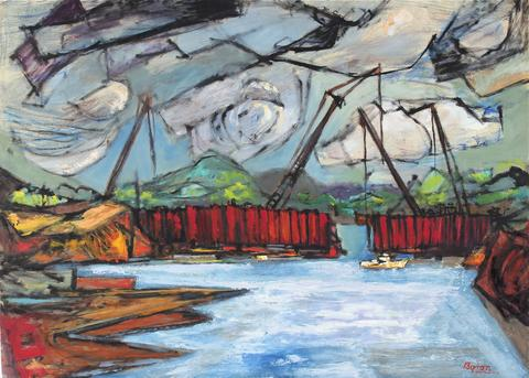 <i>Cofferdam, St. Lawrence</i><br>1955-66 Oil<br><br>#33297