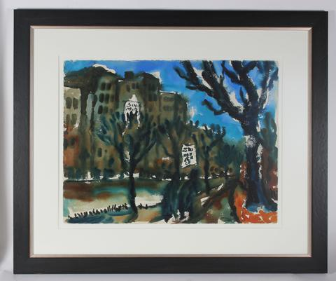 <i>City Boulevard</i><br>1939 Watercolor<br><br>#33498