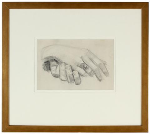 Composed Hand Study<br>1928-36 Graphite<br><br>#9575