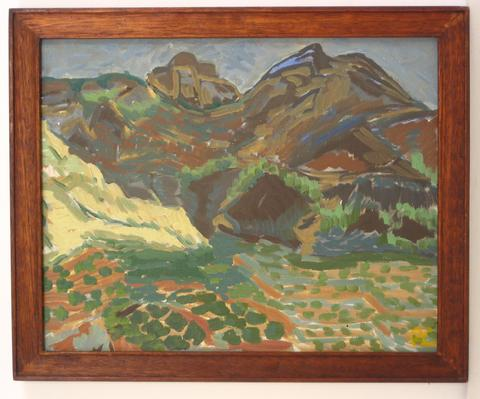 Mountainous Range<br>Oil, 1940-50s<br><br>#4301