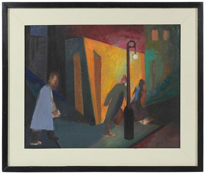 Night in the City<br>1940s Oil<br><br>#49237