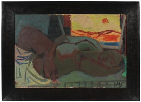 Woman in Repose<br>1947 Oil & Acrylic<br><br>#52281