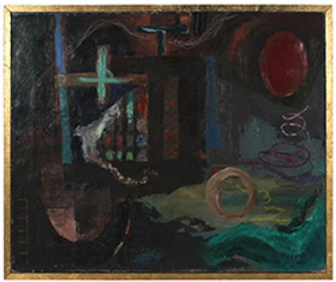 Moody North Beach Abstract<br>1945-48 Oil<br><Br>#52298