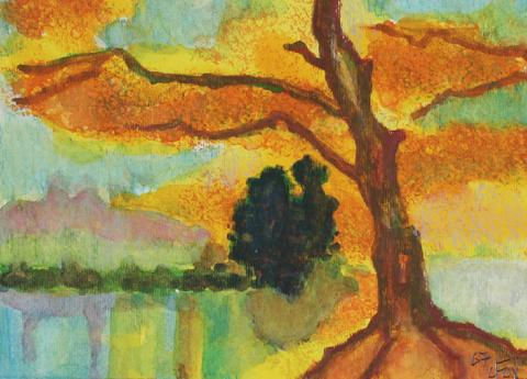 <i>Trees</i><br>2007 Watercolor Landscape<br><br>#71267