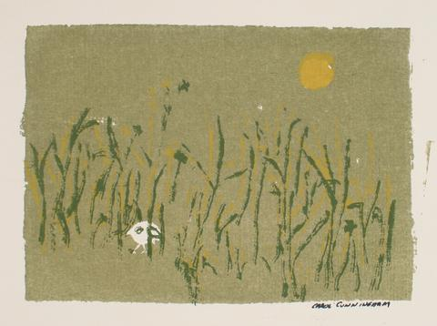 Hidden Bird In A Field<br>1960-70s Serigraph<br><br>#71301