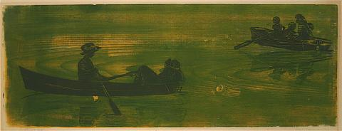 <i>Boaters</i><br>1967 Woodcut<br><br>#8820