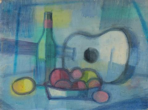 <i>Blue Guitar #2</i><br>Mid Century Oil<br><br>#90755