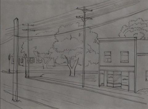 San Francisco Powerlines <br>1938-40 Ink <br><br>#9543
