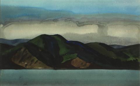 <i>Fog Over Marin</i><br>1930s Watercolor<br><br>#9608