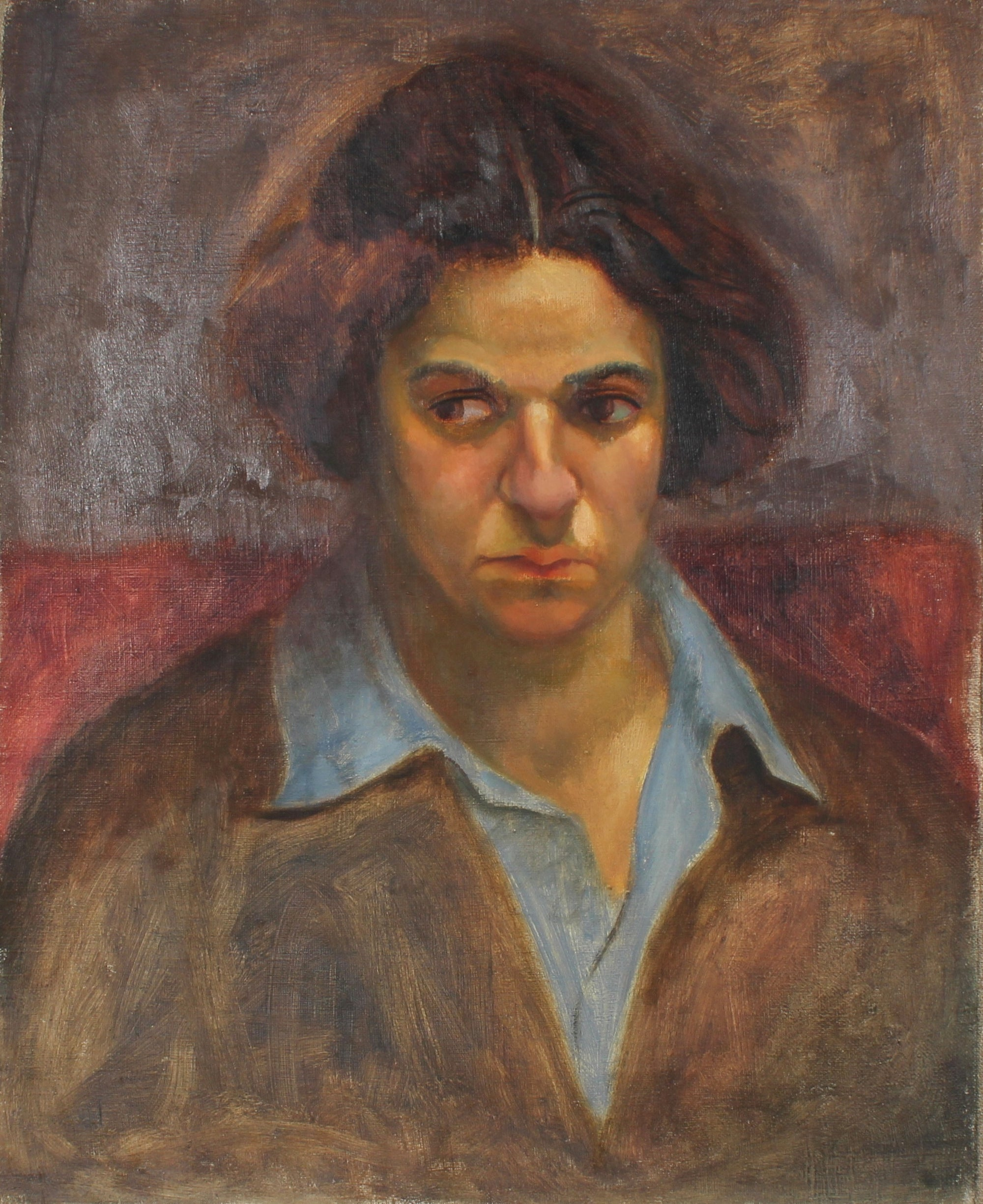 <i>Portrait of Ethel Weiner</i> <br>Circa 1930's Oil <br><br>#50199