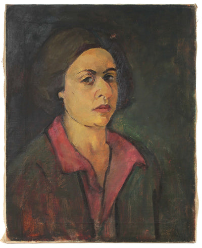 <i>Portrait of Ethel Weiner</i><br>Mid 20th Century Oil<br><br>#50209