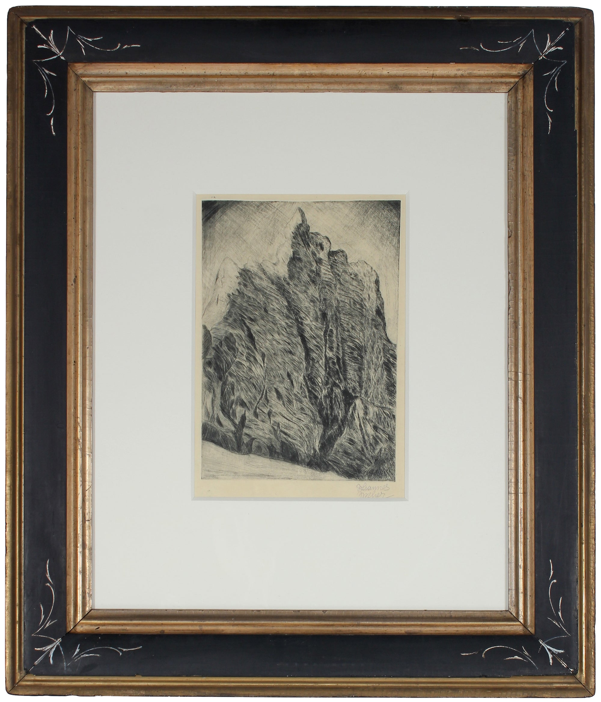 <i>Austrian Secessionist Landscape</i><br>1920s Etching<br><br>#57468