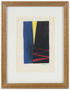 Dramatic Modernist Abstract<br>1965 Gouache<br><br>#58309
