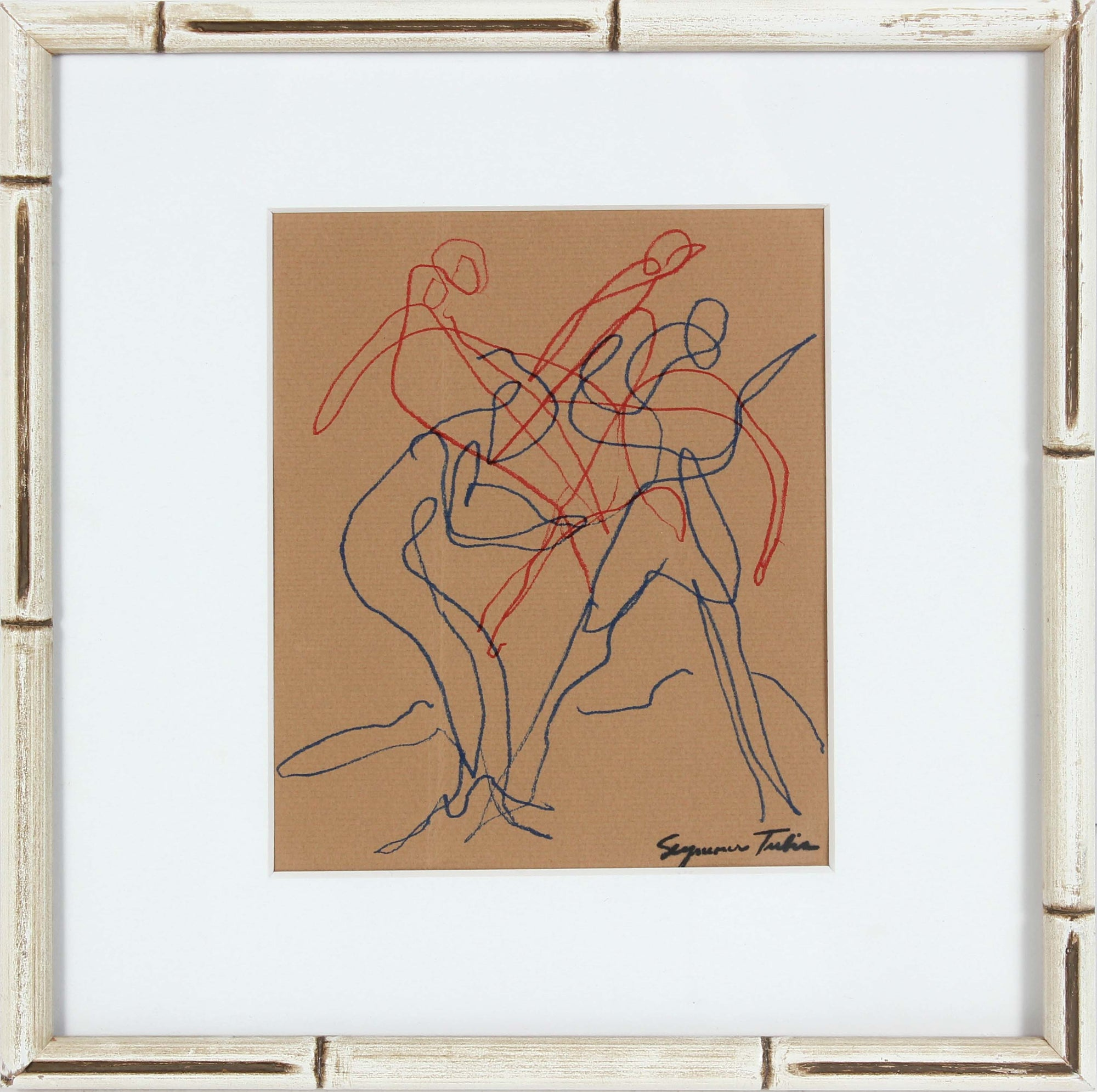 Abstracted Figural Group<br>20th Century Ink on Paper<br><br>#66885