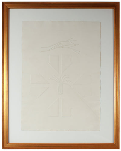Arrows in Abstraction <br>20th Century Blind Embossing <br><br>#66965