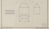 Vintage Geometric Architectural Illustration <br>1940 Ink, Germany <br><br>#71114