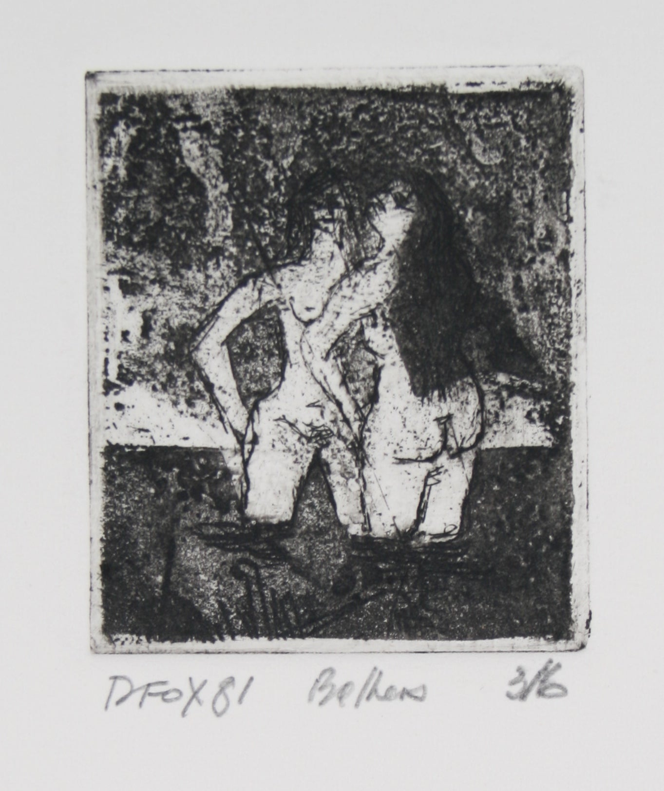<i>Bathers</i><br>1981 Etching<br><br>#71255
