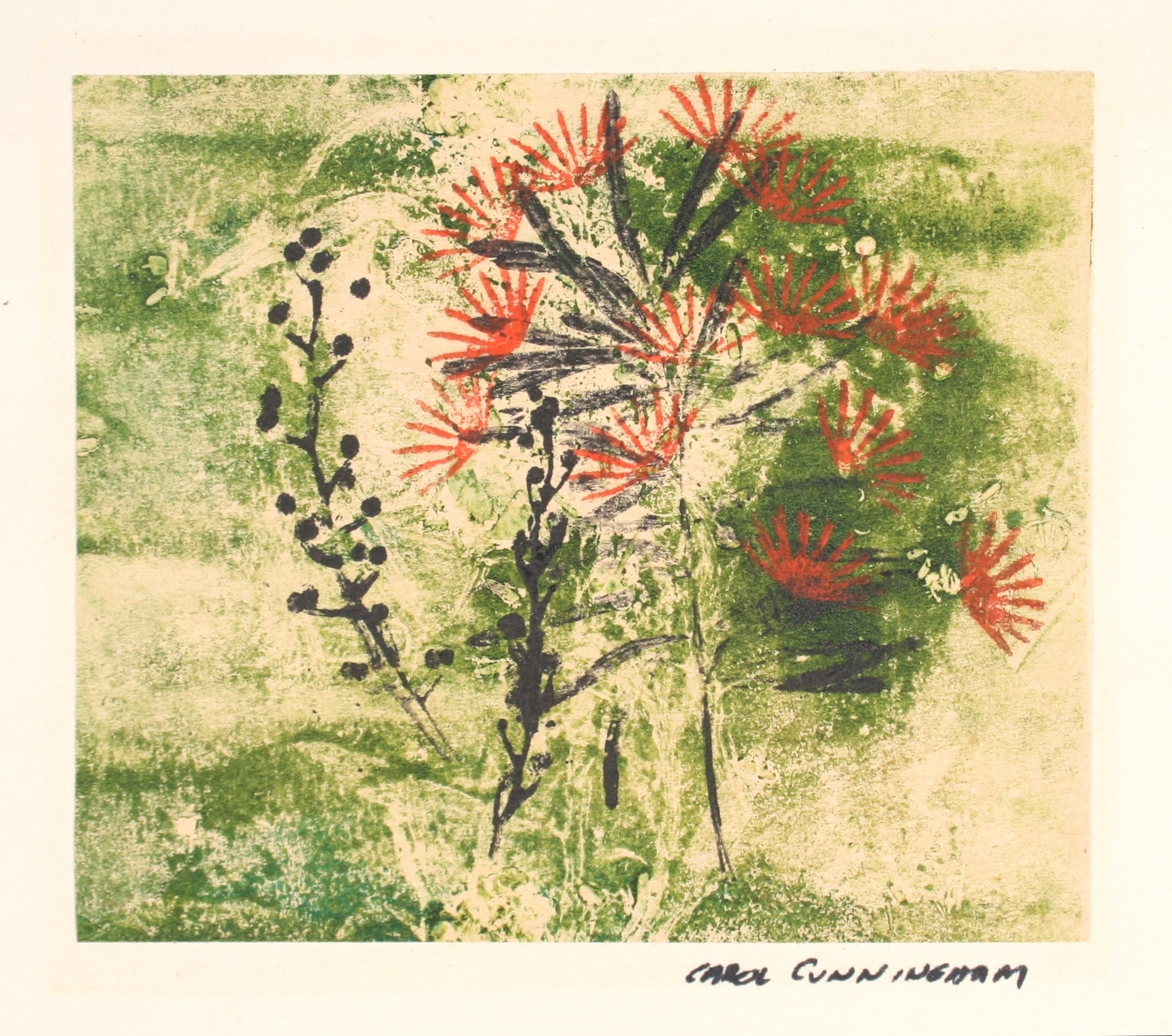 Red Flowers<br>1963 Monotype<br><br>#71315
