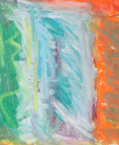 Colorful Abstract<br>Mid-Late 20th Century Oil Pastel<br><br>#72097