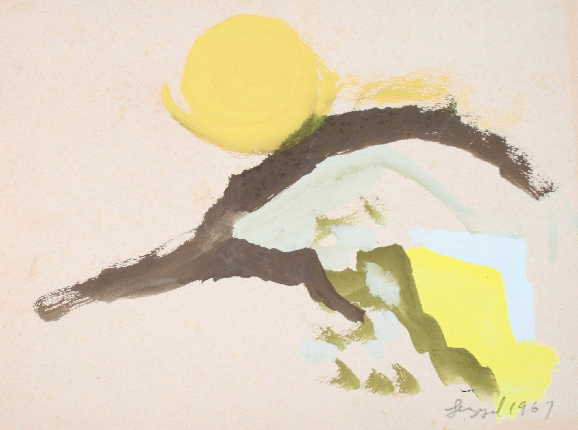 Petite Abstract Landscape<br>1967 Gouache<br><br>#72098