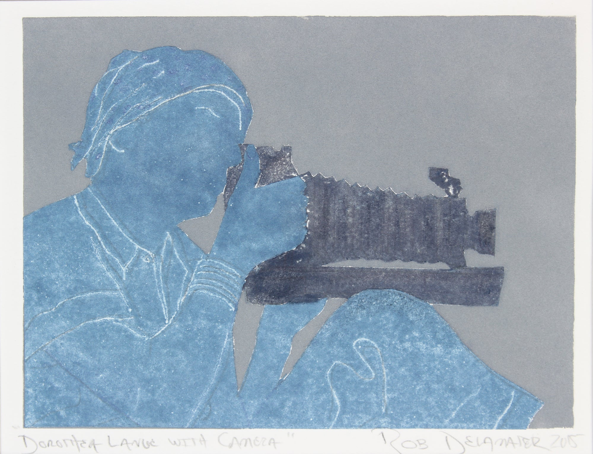 <i>Dorothea Lange with Camera</i><br>2015 Monotype<br><br>#83113