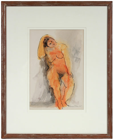 <i>Seated Nude</i> <br>1955 Ink & Wax <br><br>#83519