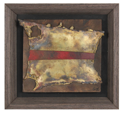 <i>Olé</i>, 20th Century<br>Bronze, Cloth & Acrylic on Wood Panel<br><br>#87881