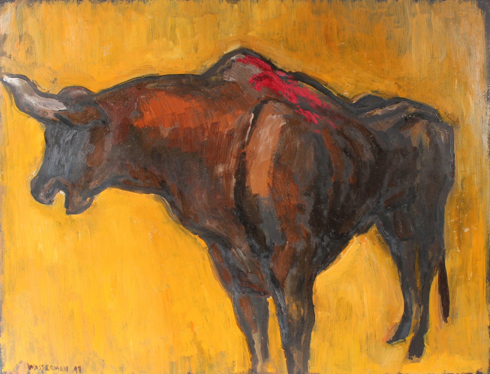 Modernist Bull, Mexico City<br>1947 Oil on Paper<br><br>#88284