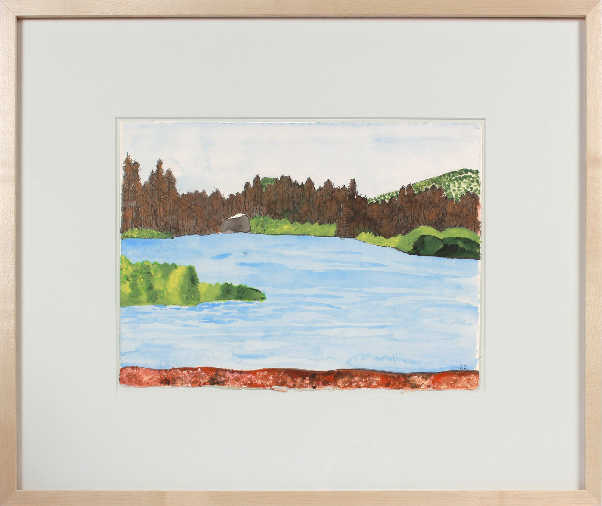 <i>Manzanita Lake</i> <br>2016 Oil, Watercolor & Gouache <br><br>#88993
