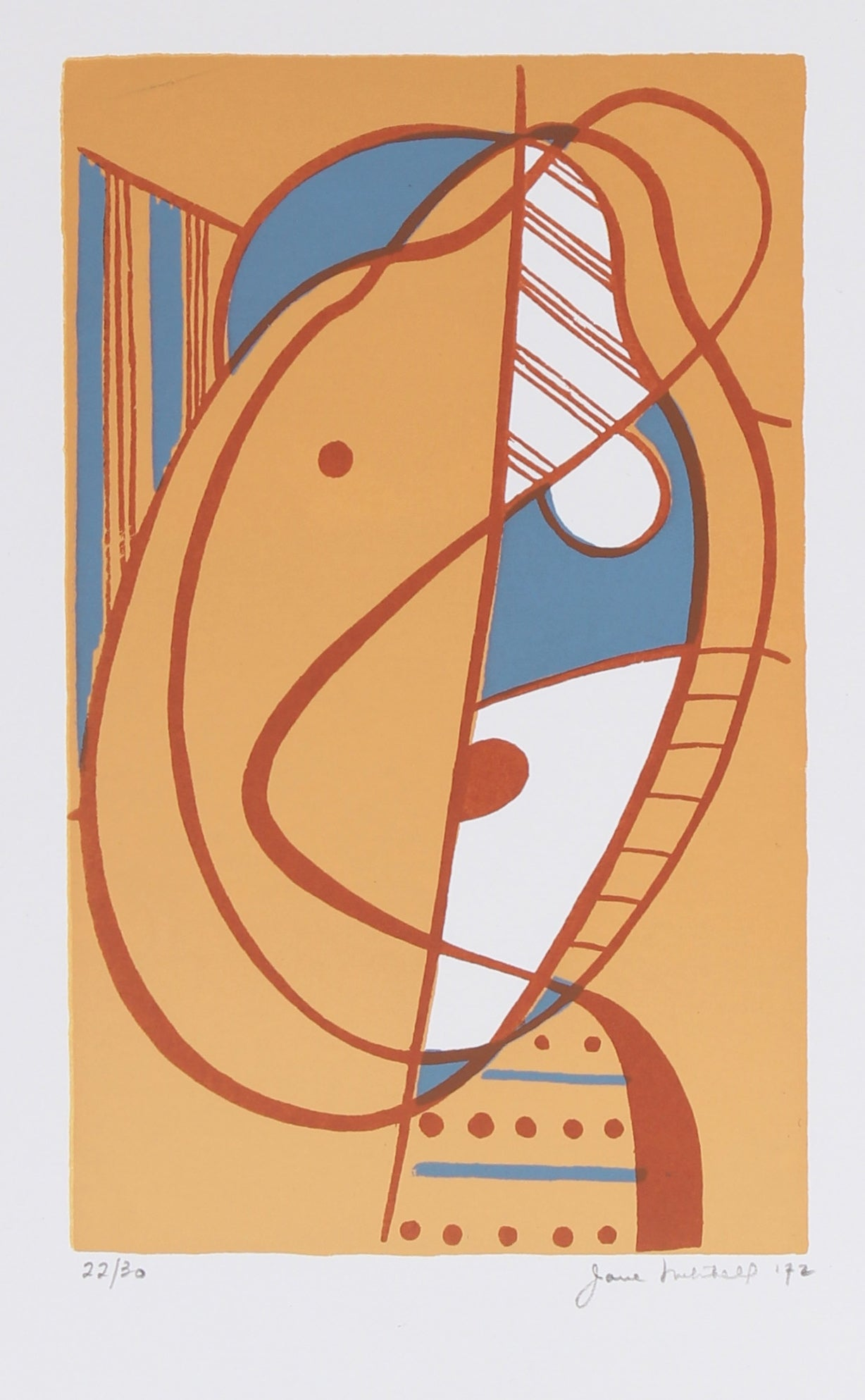 <i>Small Head </i><br> 1972 Serigraph <br><br>#91507