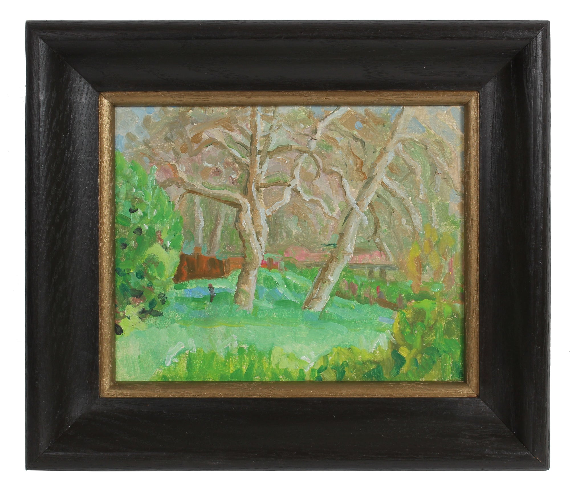 Modernist Landscape Scene <br>20th Century Oil <br><br>#92143