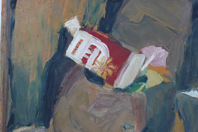 Muted Still Life in Oil Paint<br>Mid-Late 20th Century<br><br>#92534