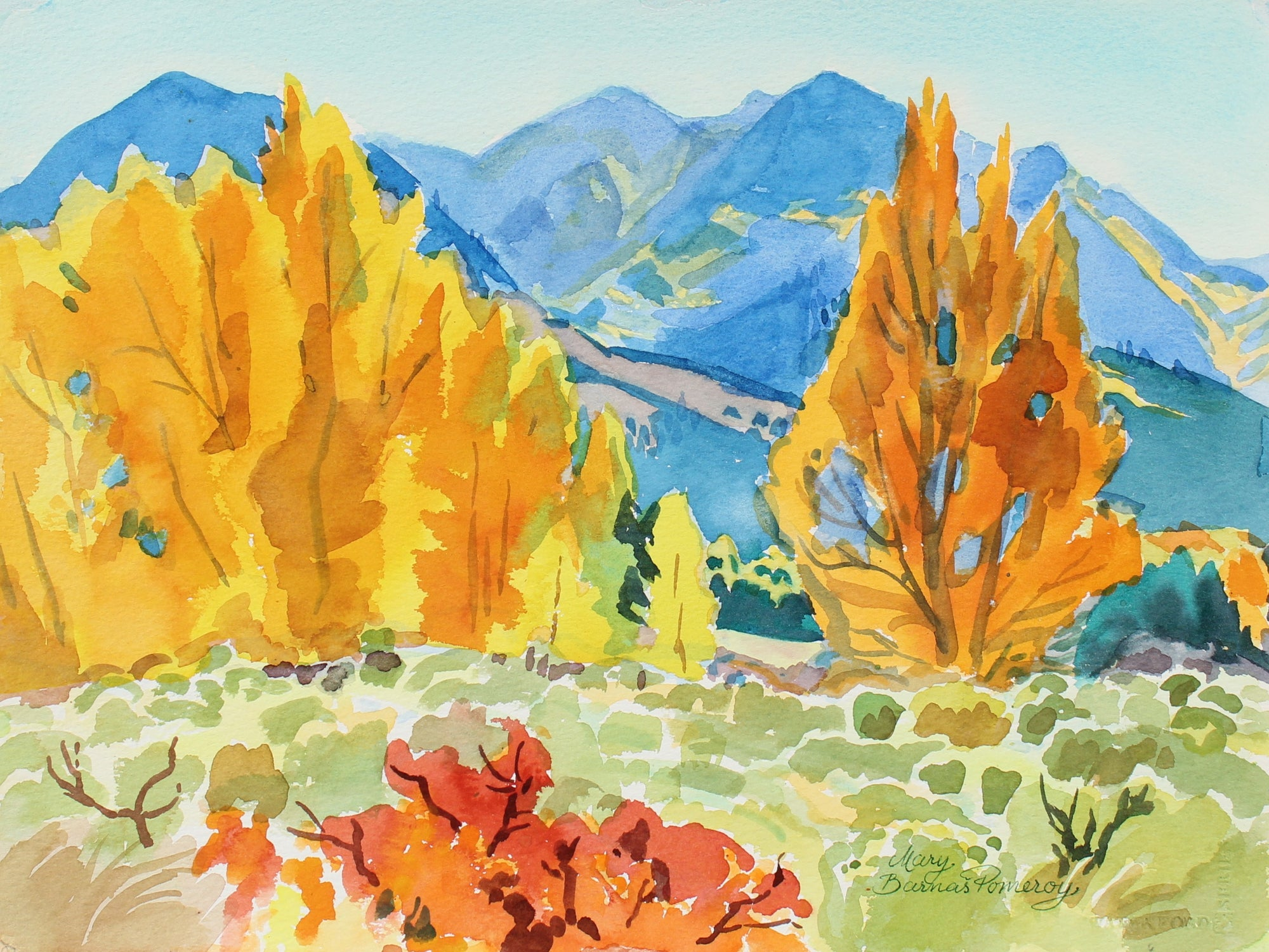 <i>Autumn in Great Sand Dunes National Monument</i><br>1991 Watercolor<br><br>#93558