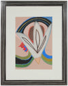 Surrealist Abstract Color Field with Flower <br>1985 Pastel & Graphite <br><br>#94079