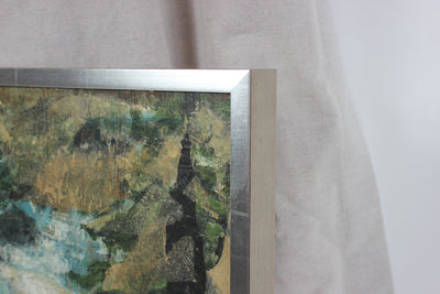 Abstracted Landscape<br>Mid Century Mixed Media & Collage<br><br>#94953