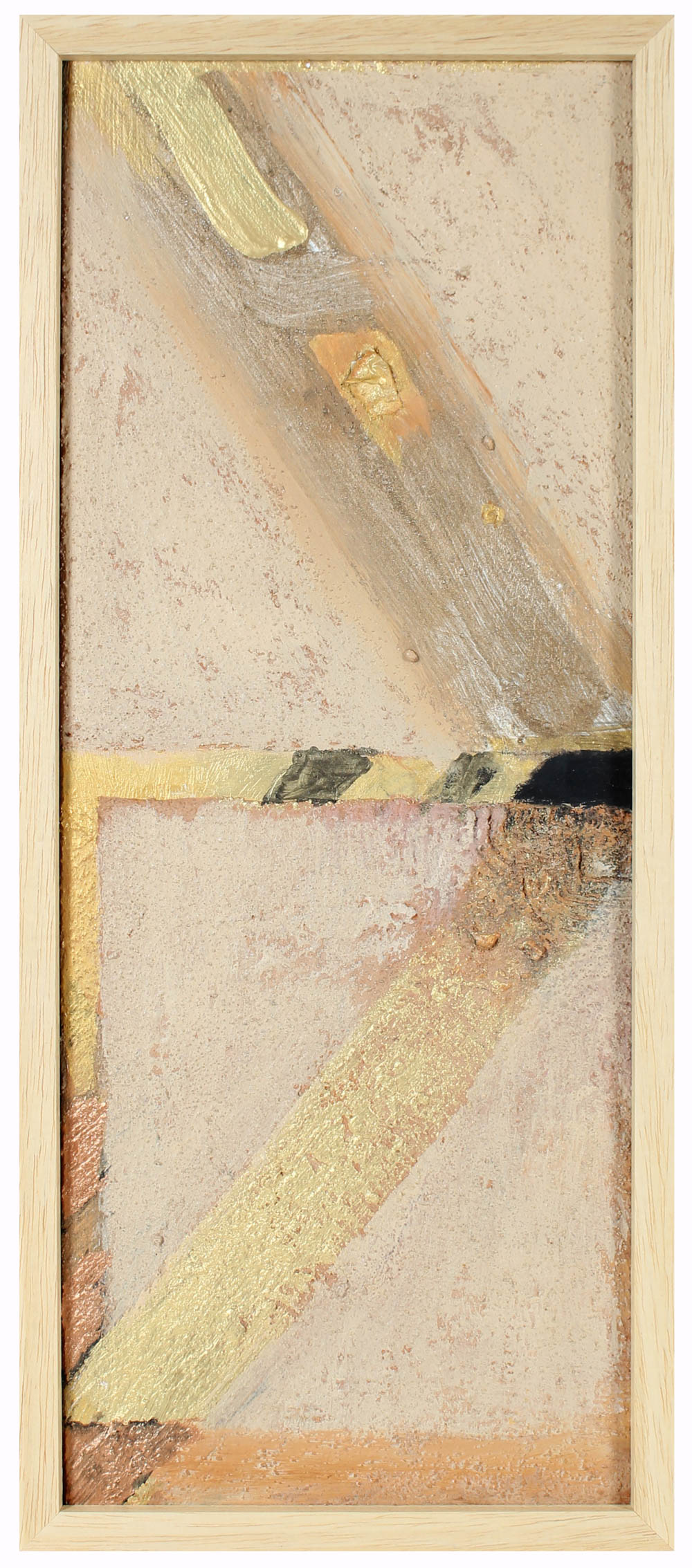 Mixed Media Abstract Sculpture<br>Sand, Cement & Paint on Wood<br><br>#95526
