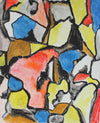 Abstract Expressionist Painting in Primary Colors <br>Early-Mid 20th Century <br><br>#95898