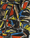 Dark Expressionist Abstract <br>Early-Mid 20th Century <br><br>#95899