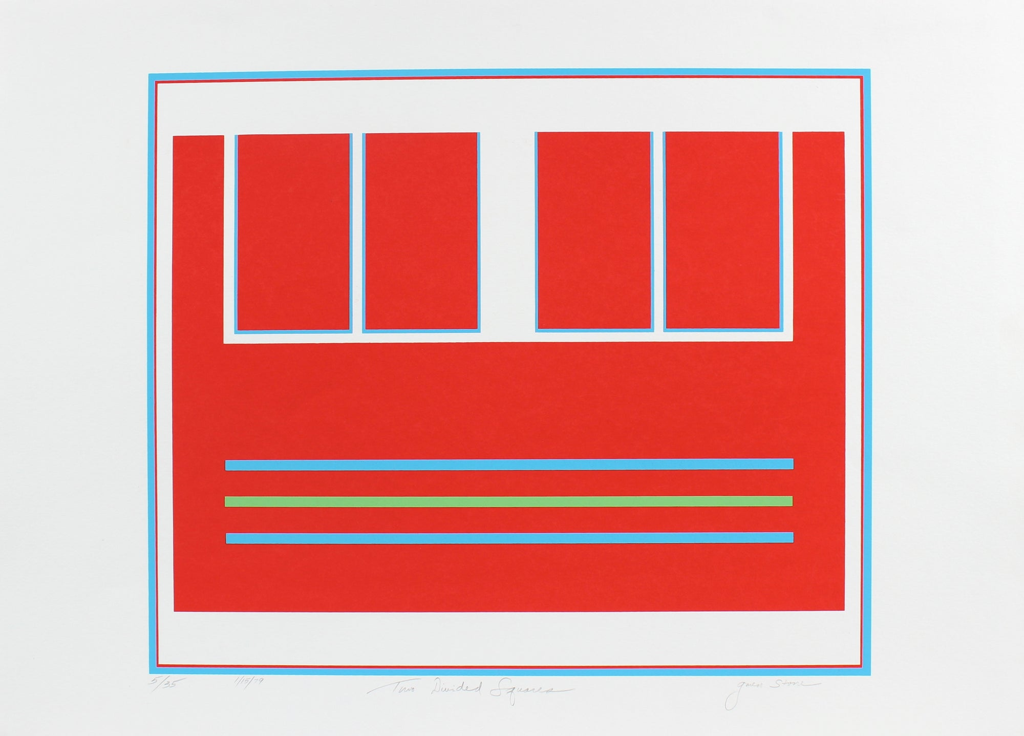 <i>Two Divided Squares</i><br>1979 Serigraph<br><br>#96218