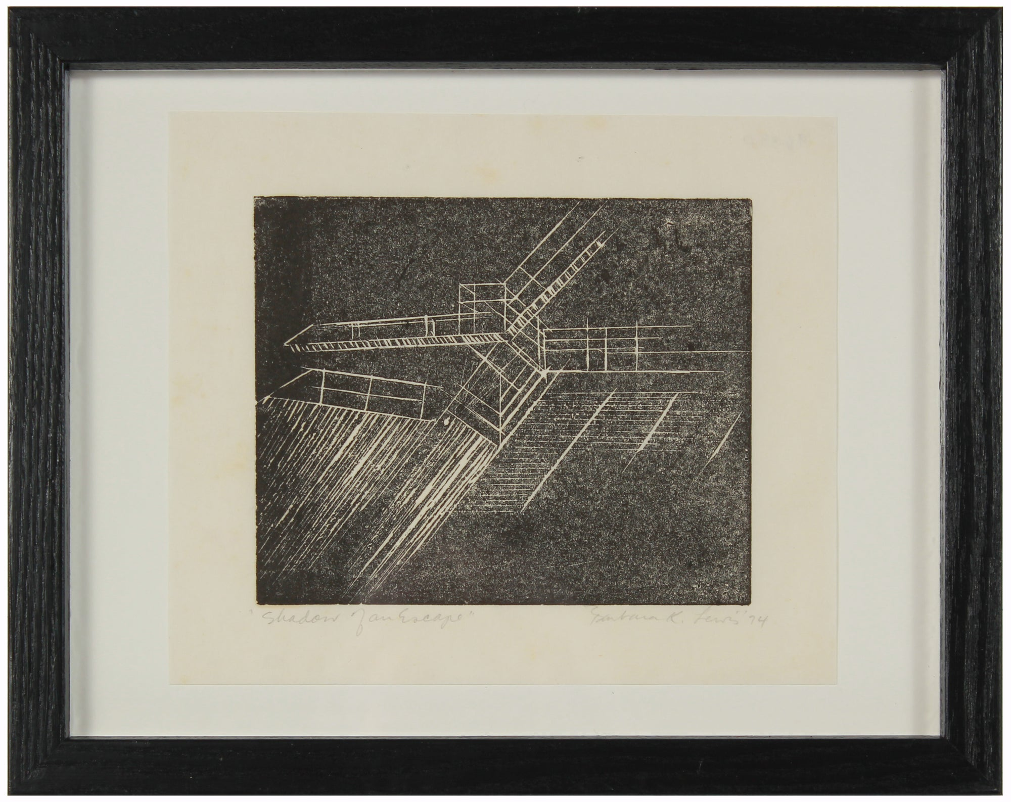 <i>Shadow of an Escape</i> <br>1974 Etching <br><br>#96330