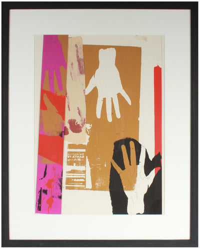<i>Railroad Hands</i> <br>20th Century Screen Print & Collage <br><br>#96338