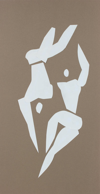 Modernist Cut Paper Reclining Figures, 20th Century<br><br>#96429