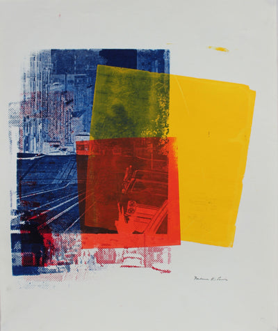 City Abstraction in Primary Colors <br>Late 20th Century Print<br><br>#96732