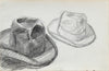 Study of a Two hats <br>1963 Graphite <br><br>#96741