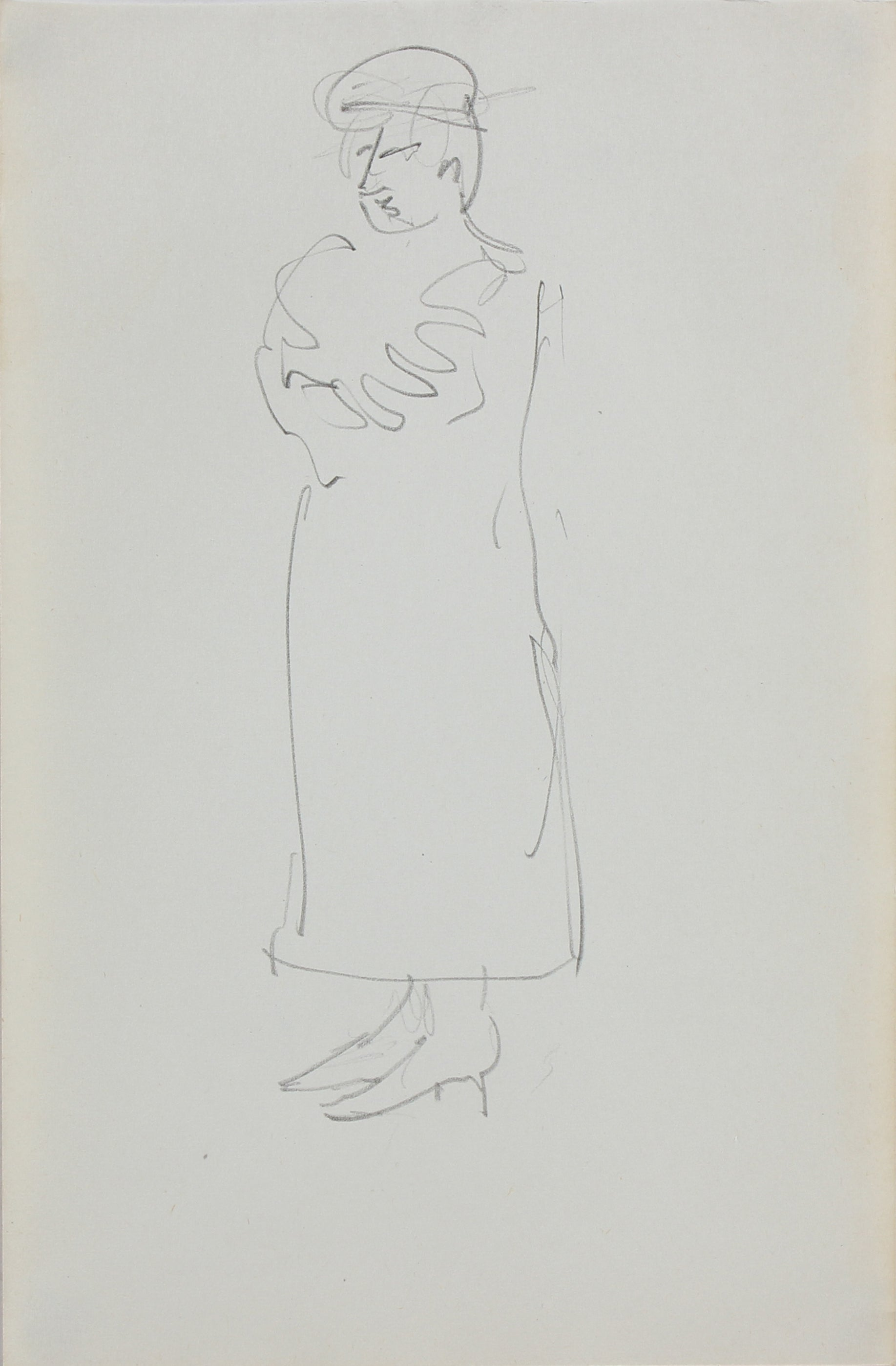 Monochromatic Drawing of a Man <br>1963 Graphite <br><br>#96745