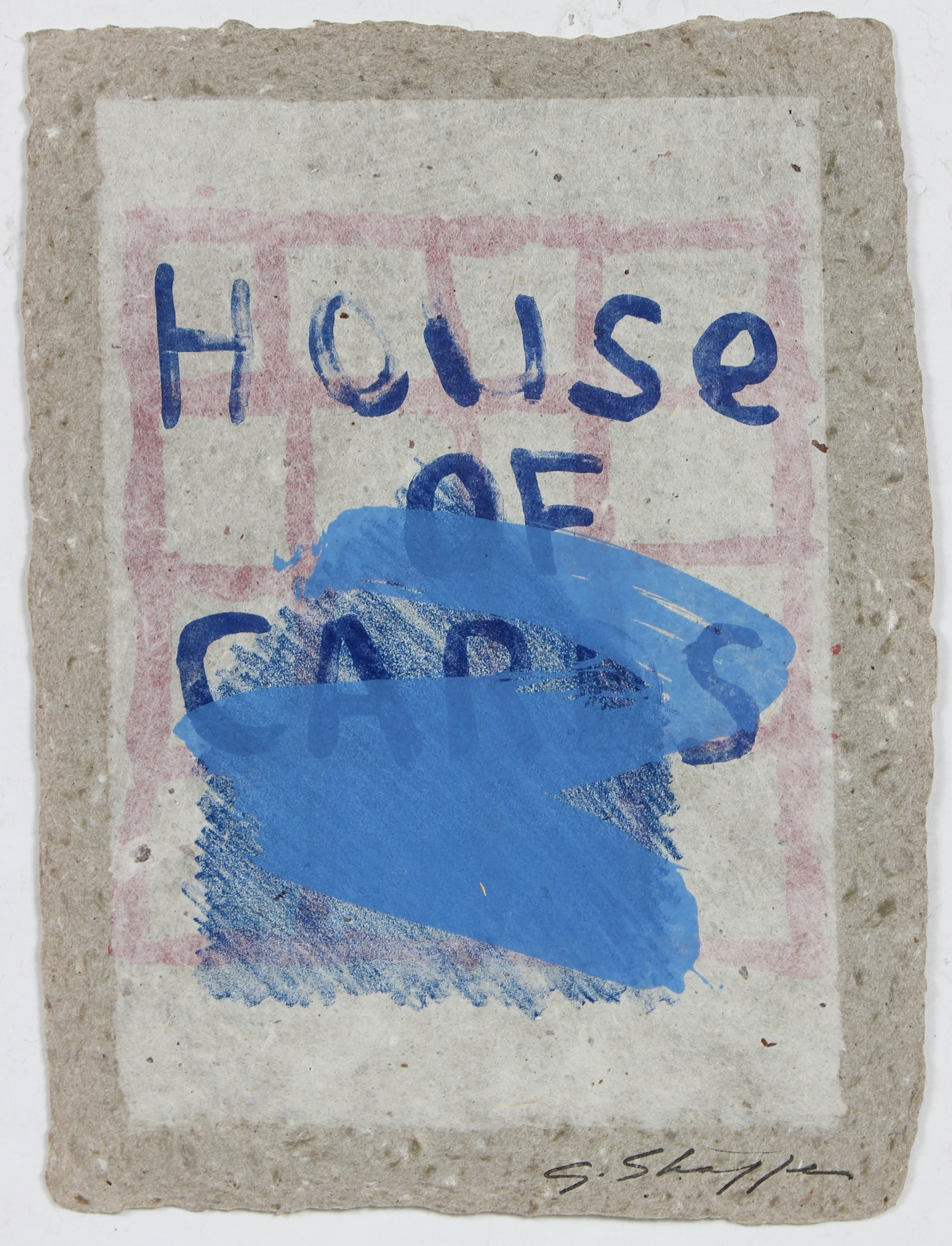 <i>House of Cards Series</i>, Abstracted Graphic Block <br>1992 Lithograph <br><br>#96829