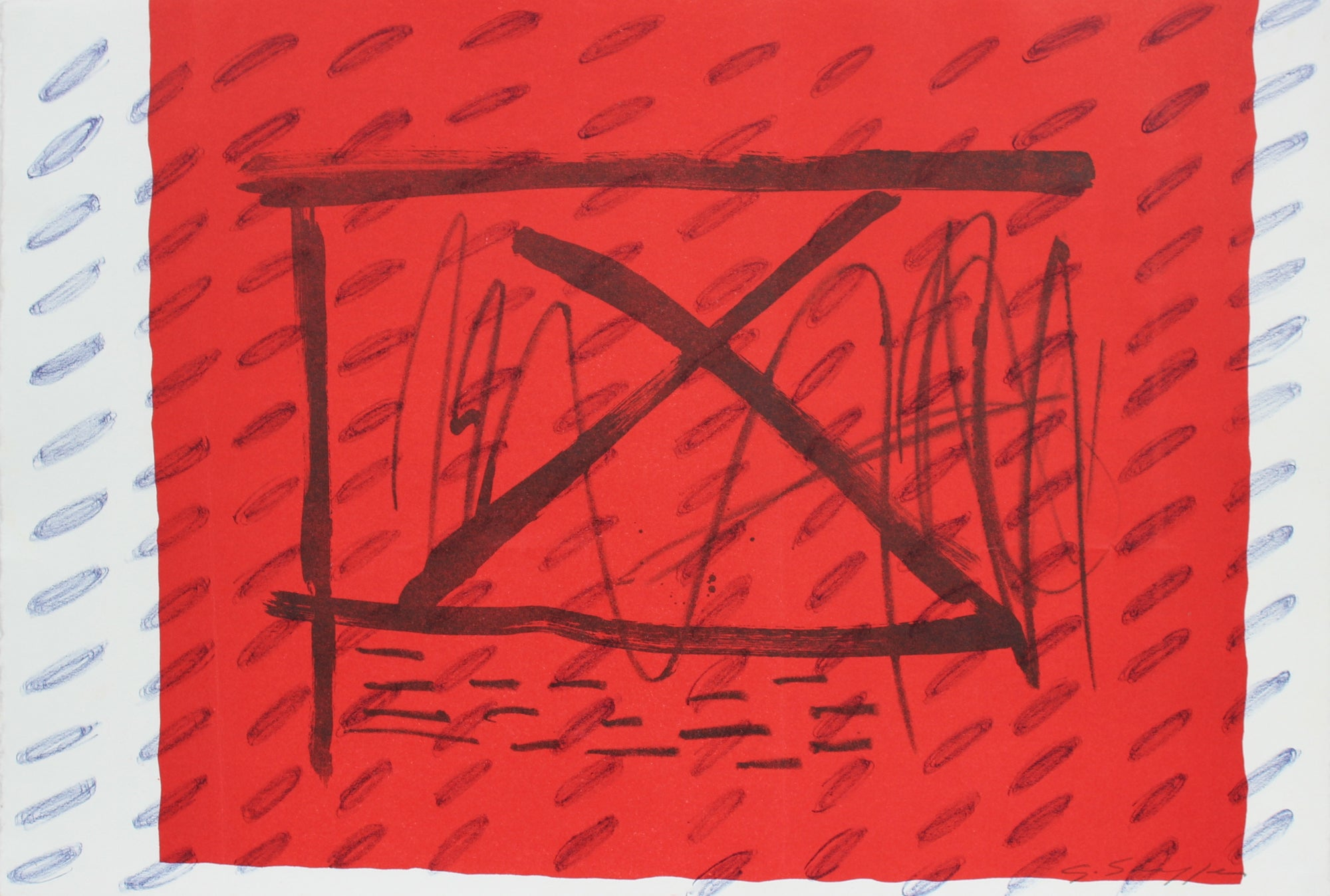 Abstracted Window <br>1999 Lithograph <br><br>#96833