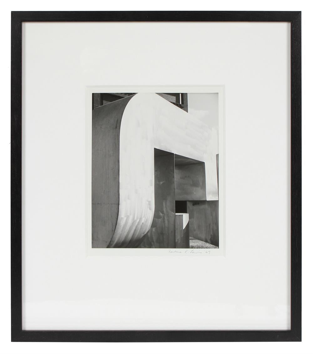Modernist Abstracted Building<br>1969 Silver Gelatin Print<br><br>#72115