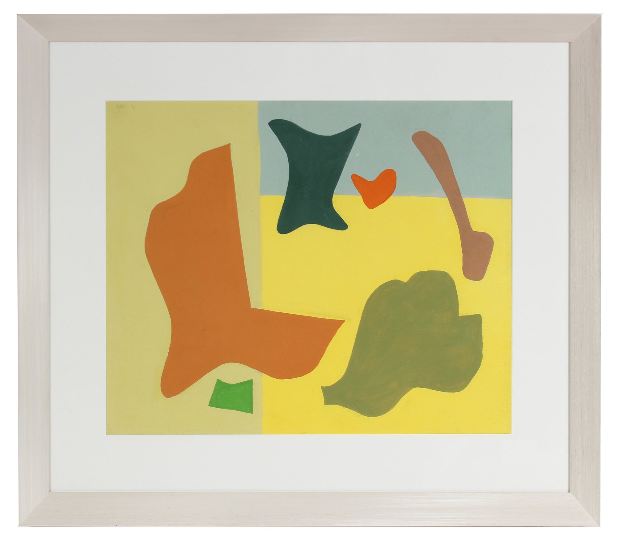 Matisse Inspired Abstract<br>1946 Gouache<br><br>#97545