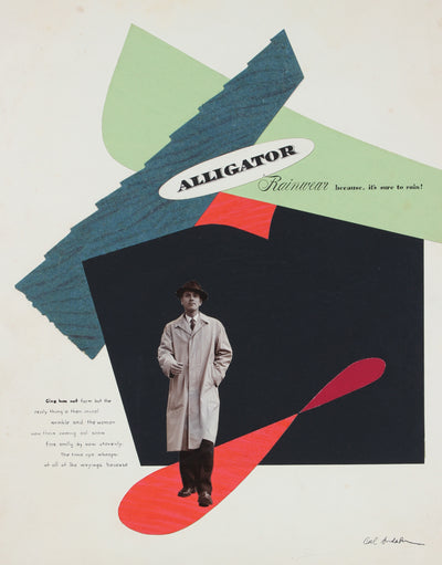 <i>Alligator Rainwear</i> <br>Mid Century Collage <br><br>#97588